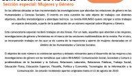 Convocatoria abierta Revista RIHUMSO: Mujeres y género