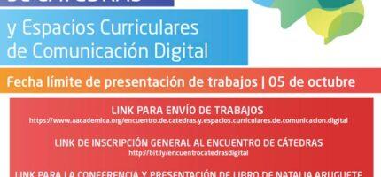 Encuentro de Espacios Curriculares y Cátedras de Comunicación Digital en la UNVM